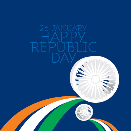 republic: creative Indian republic day concept
