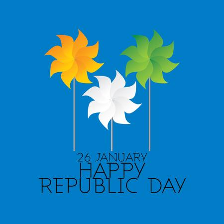 bandera de la india: creativo concepto indio días república Vectores