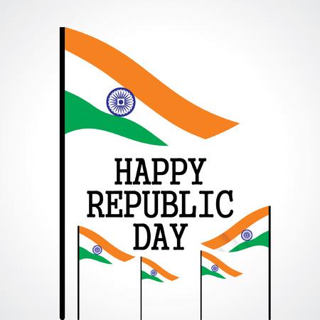 Happy republic day concept  Ilustração