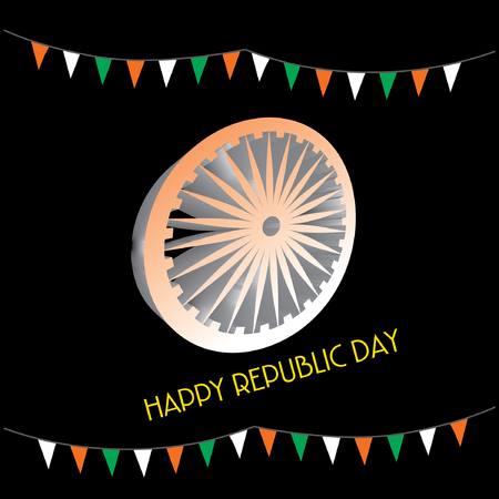 Happy republic day concept vector