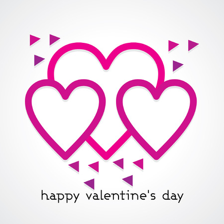 Happy Valentines day concept  Ilustração