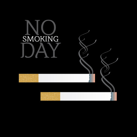 no smoking day concept illustration