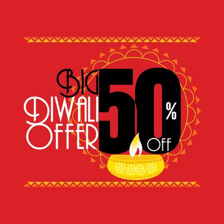 creative big diwali offer discount vector Ilustração