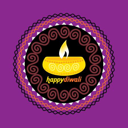 creative diwali festival concept vector illustration