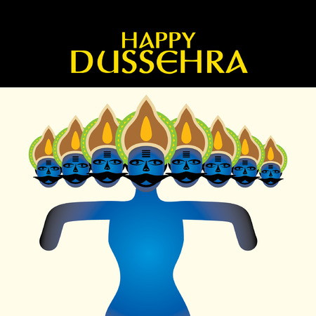 ramayan: happy dussehra concept vector illustration