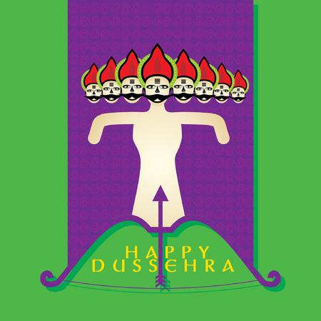 happy dussehra concept vector illustration