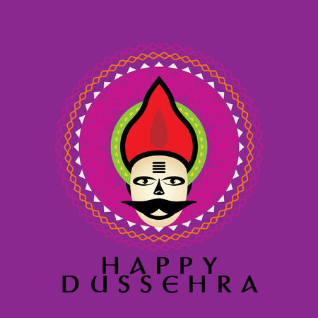 happy dussehra concept vector illustration