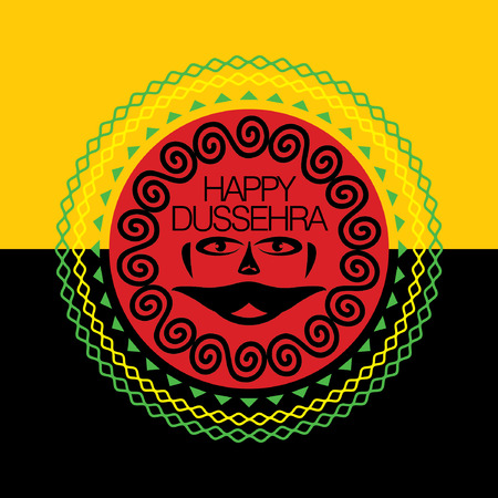 immortal: happy dussehra concept vector illustration
