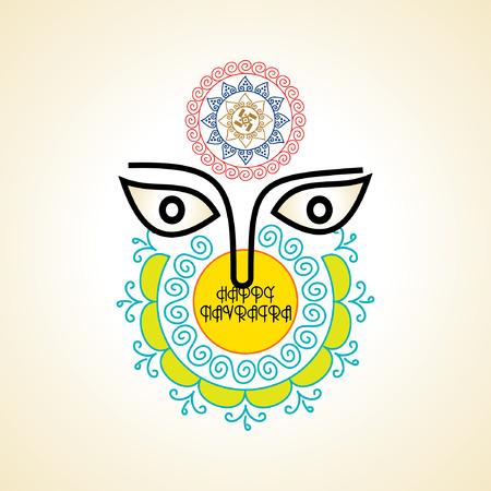 ramayan: creative navratri festival concept vector illustration Illustration