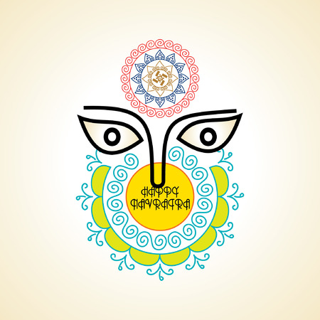 creative navratri festival concept vector illustration Illustration