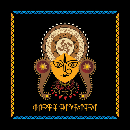 creative navratri festival concept vector illustration Illustration