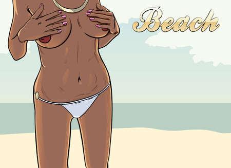 panty: beach Illustration
