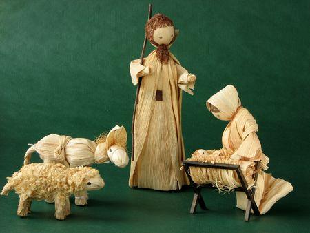pesebre: Navidad Natividad  Foto de archivo