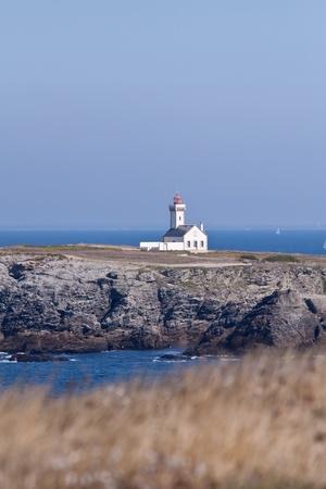 des: Pointe des Poulains in Brittany, France Stock Photo