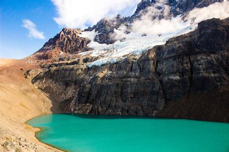 Lagoon in Cerro Castillo, Austral Road, Patagonia, Chile Stock Photo