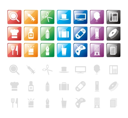 red siren: design elements  icon Illustration