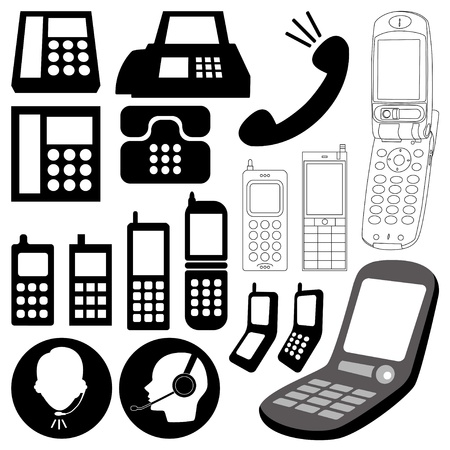 mobile operators: design elements  telephone