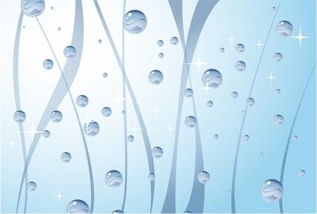 liquid crystal: bright blue water tank  Illustration