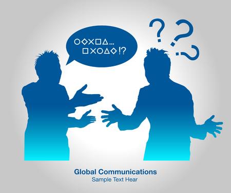 Global Communications, vector illustration 向量圖像
