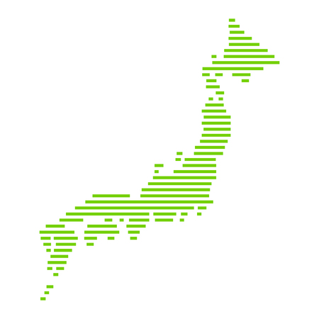 vector japan map, simple line illustration. Illustration