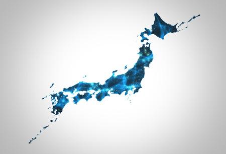 Security network structure, Japan Map Background Illustration Imagens