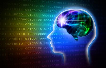 Rainbow Intelligent Artificial. illustration background image. 스톡 콘텐츠