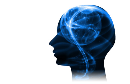 Blue Intelligent Artificial. illustration background image.