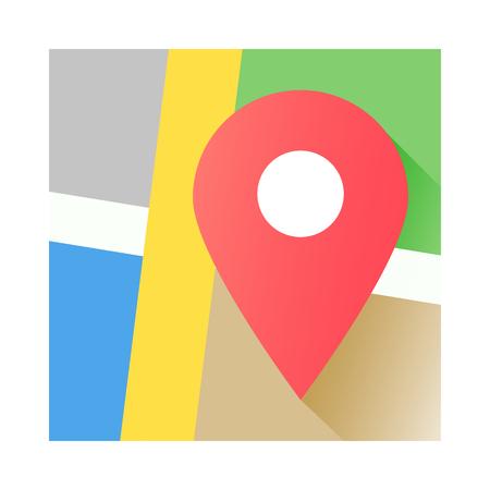 Planen Sie das Anwendungssymbol, den roten Stift. EPS, Vektor-Illustration. Standard-Bild - 84984457