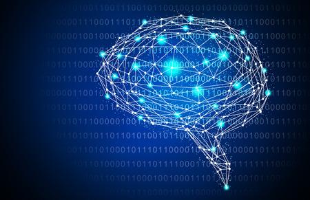 bleu inhabituelle artificielle cerveau cerveau illustration mère fond. image Banque d'images