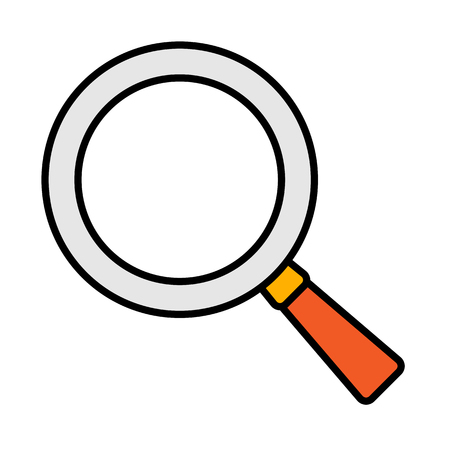 Search or magnifying glass icon, vector illustration isolated on white background.