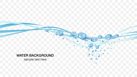 Water and bubbles water surface image, transparent background vector illustration wallpaper material  イラスト・ベクター素材