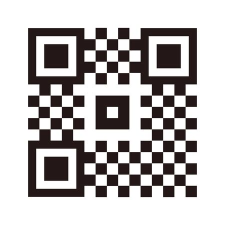 Qr code simple sample vector line illustration design image. isolated on white background