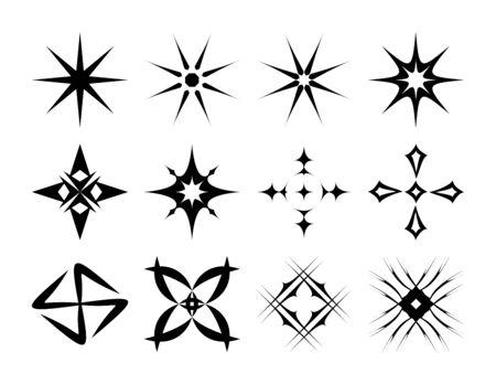 sparkles icon set vector illustration design elements Imagens - 145643861