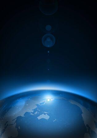 Blue earth background design image