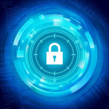 Security network structure, Digital Background Illustration