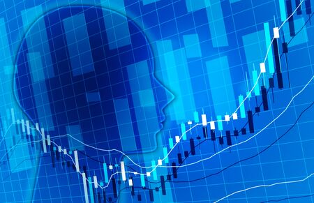 Artificial intelligence chart business forecast image background image blue color