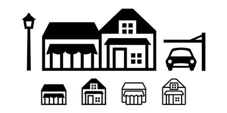 Home and house Carport icon set. vector illustration image. stock illustration Illustration