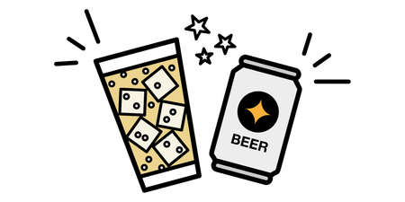 Vector illustration icon material of online drinking party toast Kampai Illustration