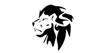 Vector icon illustration design of lion cool profile Illustration