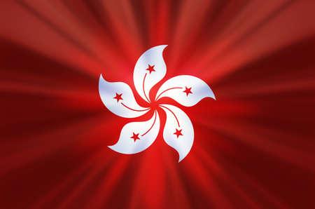 Hong Kong flag flag design image background material