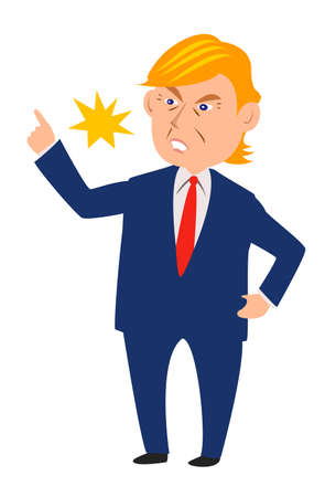 Presidential Leader Politician American Vector Character Icon illustration image Ilustração