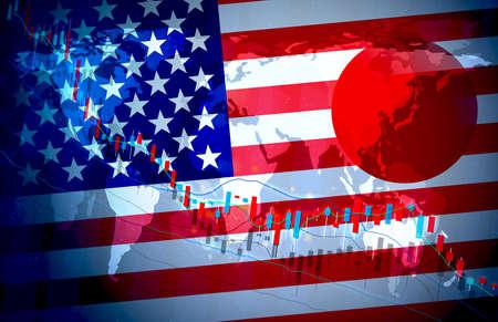 Japan Economy Global Market Background Design Chart Material graph illustration image Imagens