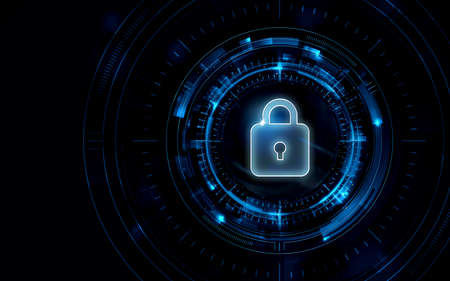 Privacy Security Password SSL Background Image Illustration Blue