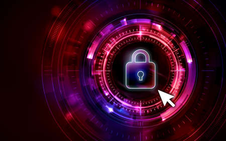 Privacy personal information Unauthorized access background image illustration red Imagens
