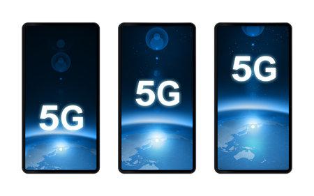 Smartphone 5G high-speed line screen wallpaper screen design image