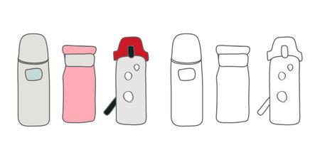 Vector illustration icon material for water bottle, drink bottle