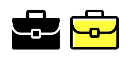 Bag, business, office worker vector icon illustration material Ilustração