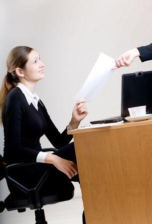 job interview: Job interview Stock Photo