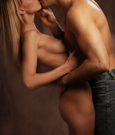 Lovers kissing and hugging, passionate Stock Photo - 925397