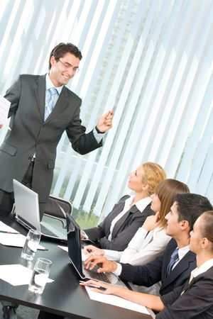 Business people at business meeting, seminar or conference Stock Photo - 3505818